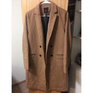 Forever 21 Longline Wool Coat